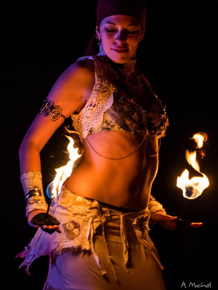 Feuershows Discrahelios für Leipzig - Berlin